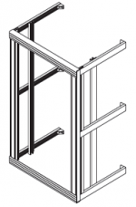 Flexi rack, wallmounted, 19